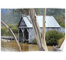 Wooden Boat Shed Poster