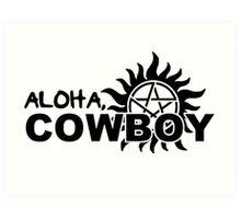 Aloha, Cowboy--SPN Season 10 Gag Reel Art Print