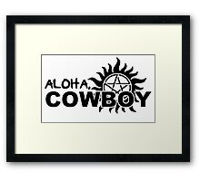 Aloha, Cowboy--SPN Season 10 Gag Reel Framed Print