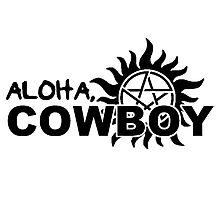 Aloha, Cowboy--SPN Season 10 Gag Reel Photographic Print