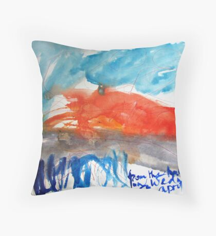 i can see a break in the weather Throw Pillow