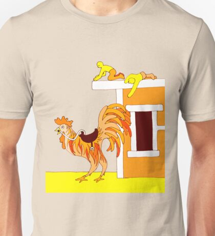 Apricot Rooster - From my original series, Apricot World Unisex T-Shirt