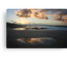 Cloud reflections - Jakes Point Kalbarri Canvas Print