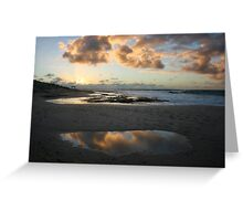 Cloud reflections - Jakes Point Kalbarri Greeting Card