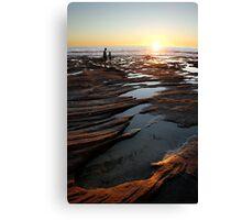 Rock pool sunset - Kalbarri Canvas Print