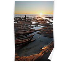 Rock pool sunset - Kalbarri Poster