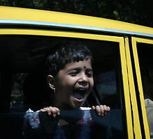 Laugher from a Taxi by bluedog