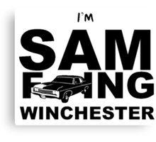 Sam F---ing Winchester 2 Canvas Print