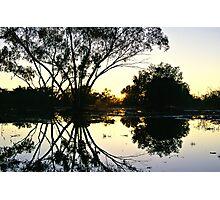 Sunrise billabong reflections - Cunnamulla, QLD Photographic Print