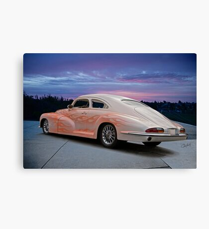 1946 Oldsmobile 'Custom' Sedanette 3Q Rear View Canvas Print