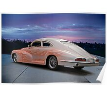 1946 Oldsmobile 'Custom' Sedanette 3Q Rear View Poster