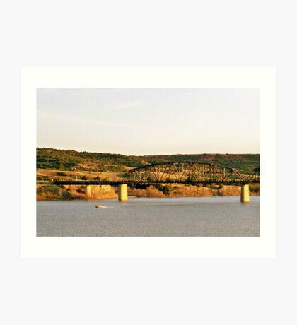 Chamberlian South Dakota  ~ Speed boat Art Print