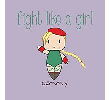Fight Like a Girl - Cammy | Street Fighter Photographic Print