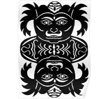 rakshasa duo - papercut pattern Poster