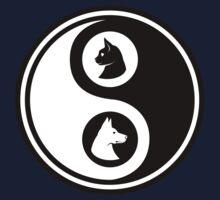 Yin Yang - Cat and Dog One Piece - Short Sleeve