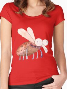 crazy bug Women's Fitted Scoop T-Shirt
