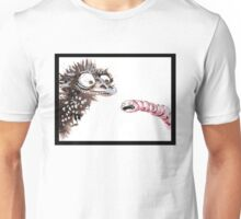 Emu and worm1 Unisex T-Shirt