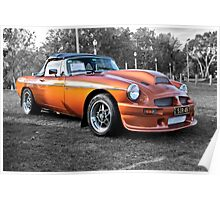 MGB with Blower at Elder Park Poster