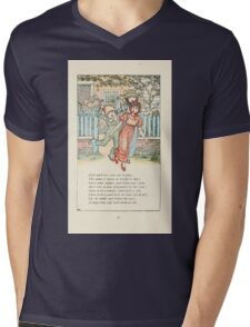 Mother Goose or the Old Nursery Rhymes by Kate Greenaway 1881 0039 Girls and Boys Come Out to Play Mens V-Neck T-Shirt