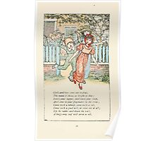 Mother Goose or the Old Nursery Rhymes by Kate Greenaway 1881 0039 Girls and Boys Come Out to Play Poster