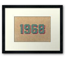 Vintage 1968 Framed Print