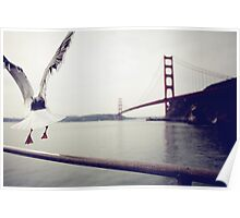 Freedom - San Francisco Golden Gate Bridge Poster