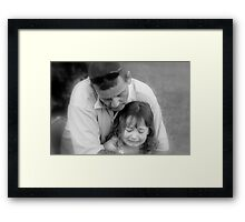 Don't Cry Baby, Daddy's Here Framed Print