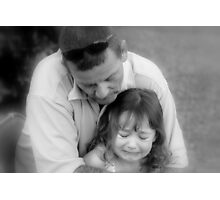 Don't Cry Baby, Daddy's Here Photographic Print