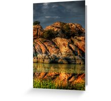 Reflective Layers Greeting Card