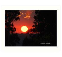 A lovely sunrise over Kurri Kurri Art Print