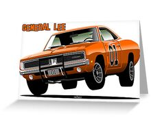 General Lee Dodge Charger Greeting Card