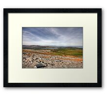 Corker Hill View in  The Burren Framed Print