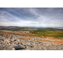 Corker Hill View in  The Burren Photographic Print