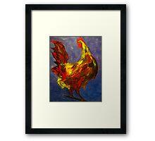 Rooster Study Framed Print