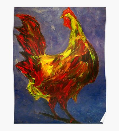 Rooster Study Poster