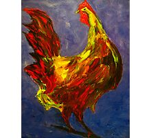 Rooster Study Photographic Print