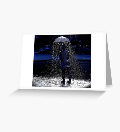 reverse brolly Greeting Card