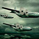 Hercules C-130 by Steven  Agius