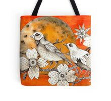 orange sundown Tote Bag