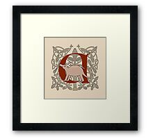 A is For Aardvark Framed Print