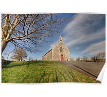 Rural Irish church Poster