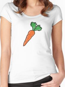 Cartoon Carrot Women's Fitted Scoop T-Shirt
