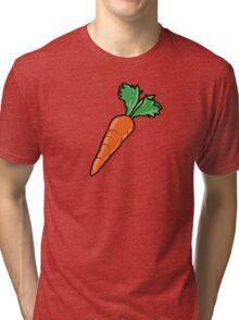 Cartoon Carrot Tri-blend T-Shirt