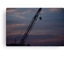 Crane at Sunset Canvas Print