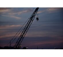 Crane at Sunset Photographic Print
