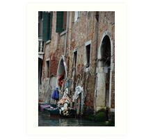 The backyards of Venice Art Print