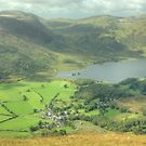Buttermere Village and Crummock Water by Jamie  Green
