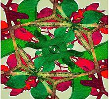 Floral Print Colorful Pattern by DFLC Prints