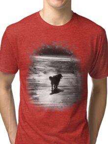 dog silhouette t shirt Tri-blend T-Shirt