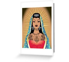 Chola Guadalupe Greeting Card